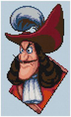 PDF Cross Stitch pattern 0029 Captain Hook by PDFcrossstitch