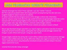 Jasa Pembuatan Website Pekanbaru Gatis: Jasa Pembuatan Website Pekanbaru Gratis