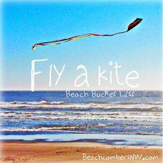 Fly a kite by the ocean - Beach Bucket List