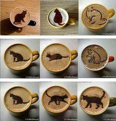coffee cat art #meow