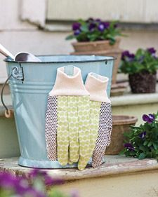 Gardening gloves have a way of disappearing. Once dirty, they seem to blend into berry patches and stone walls -- only to be found the next day, dew-soaked and useless until they dry. To keep gloves handy, sew magnets onto their cuffs.