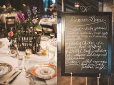 Great idea for guests to see the menu before walking into the reception.