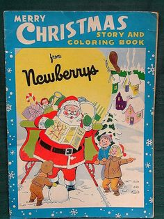 NEWBERRYS Five & Dime orig 1960 Christmas Coloring Book w Toy Ads | eBay