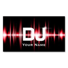 307 best dj business cards images on pinterest business card dj modern red beats professional deejay music business card accmission Gallery