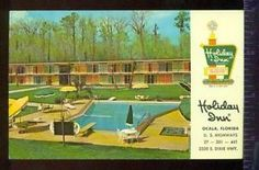 vintage holiday inn | Holiday Inn Ocala Florida View of Pool Hotel Vintage 1965 Postcard ...