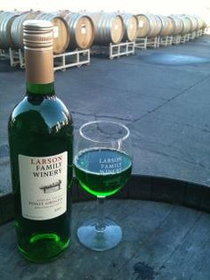 St. Paddy's Day fun with Pinot Greeno! March 17 & 18, 2012 at Larson Family Winery in Sonoma Valley.