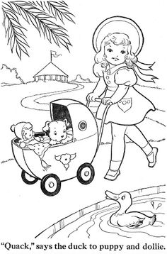 vintage coloring pages # 11
