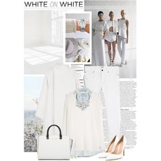 White on White by fluffiness on Polyvore featuring MANGO, MiH Jeans, Gareth Pugh, Gianvito Rossi, Coast, Timex, Christian Dior, New Growth Designs, Pier 1 Imports and Arche