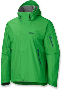 Superior weather-beating performance with a wealth of creature comforts—Men's Marmot Aegis Rain Jacket.