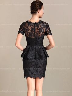bride mother dress with lace_Black