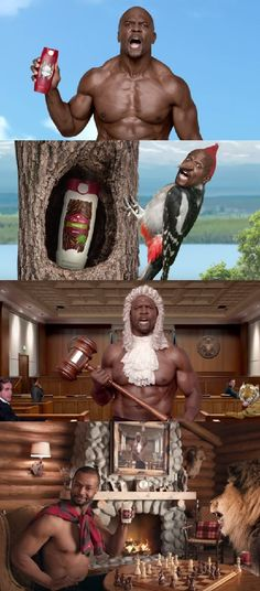 Old Spice Checkmate - Terry Crews - Isaiah Mustafa Isaiah Mustafa, Terry Crews, Old Spice, Family Picnic, Gaming Memes, Advertising Design, I Laughed, Lawn, Spices