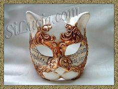 Cat Gold Music - Handmade Venetian Masks from Venice, Italy - 1001 Venetian Masks