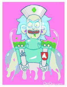 """Don't blink or move okay?"" | Rick and Morty, Pocket Mortys, Deydez's Artz"