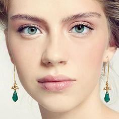 Emerald bridesmaid earrings, Emerald wedding, #weddings #jewelry @EtsyMktgTool http://etsy.me/2fZBQqZ