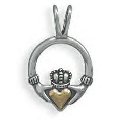 Heart of Gold Claddagh Design Pendant