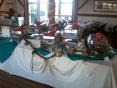 Buffet set up at the Barn