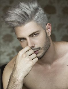 These hair color for men are very alluring. We share the sexiest mens hair color ideas for you! Check out the hottest men hair color. White Hair Men, Silver Hair Men, Mens Hair Colour, Ombre Hair Color, Undercut Hairstyles, Trendy Hairstyles, Blonde Hairstyles, Hairstyles 2016, Creative Hairstyles