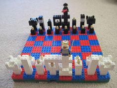 build your own lego chess set with the plans provided
