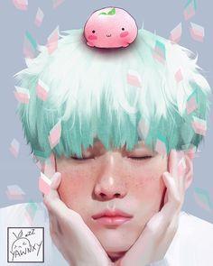 Suga by Yawnxy. Mochi, Fan Art, Min Yoonji, Les Bts, Korean Art, Bts Drawings, Amazing Drawings, Bts Chibi, Bts Fans
