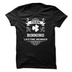 [Hot tshirt names] TEAM BINNING LIFETIME MEMBER Free Ship Hoodies, Funny Tee Shirts