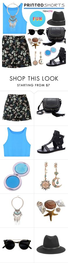 """LoveNewChic - A Shorts Story"" by dora04 ❤ liked on Polyvore featuring Miss Selfridge, rag & bone, Lisa Perry and printedshorts"