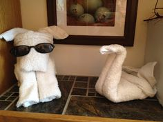 What's a cruise without towel animals?  Put some in the bathroom to enhance that cruisy feel! http://FoldingMagic.com