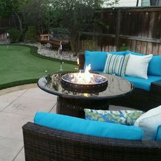 Outdoor Hand Made Wine Barrel  Propane Fire Pit.