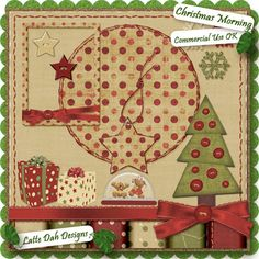 Christmas Morning  Digital Scrapbooking Kit by Latte Dah Designs
