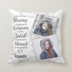 In Loving Memory Photo Memorial Throw Pillow - tap/click to get yours right now! #ThrowPillow #in #loving #memory, #memorial #pillow, Custom Pillows, Decorative Throw Pillows, Scatter Cushions, Grieving Gifts, Remembrance Gifts, Remembrance Quotes, Funeral Gifts, Memorial Gifts, Memorial Ideas