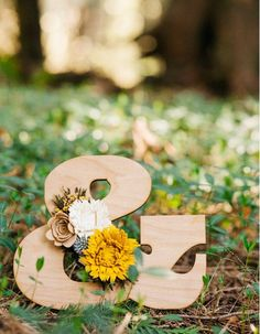 Felt wildflower wooden letter by TheFeltFlowerShop on Etsy Birthday Coupons, Wooden Letters, Felt Crafts, Coupon Codes, Coding, Lettering, Table Decorations, Bird, Unique Jewelry