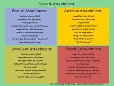Different attachment styles - importantly, although your attachment style is pervasive in your life, it can change through therapy, introspection, etc. Relationship Psychology, Relationship Therapy, Relationship Tips, Relationship Challenge, Toxic Relationships, Healthy Relationships, Avoidant Personality, Personality Types, Attachment Theory