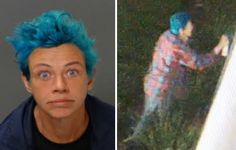 Blue-haired woman arrested for scrawling anti-Trump graffiti on government buildings, police say #Cronaca #iNewsPhoto