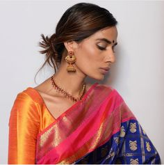Beautiful color play on a silk sari