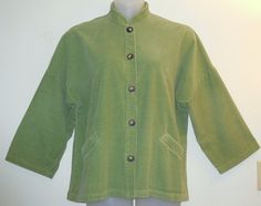 Bryn Walker Corduroy Large Green Jacket. Free shipping and guaranteed authenticity on Bryn Walker Corduroy Large Green JacketCasual jacket from Bryn Walker in avocado green co...