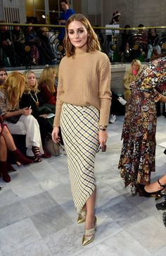 Olivia Palermo attends the Peter Pilotto SS18 catwalk show during London Fashion Week September 2017 at The Waldorf London on September 17 2017 in...