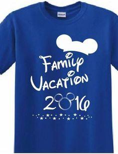 Disney, Mickey Mouse, Magic Kingdom, Customized Printed T-shirt Family Reunion…