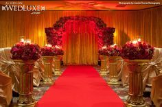 WedLuxe: luxe, red and gold #wedding featured in WedLuxe Magazine. Design + Decor by Vancouver's Upright Decor #ceremony #decor