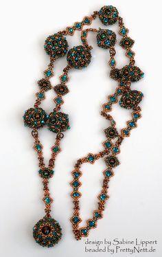 """Renaissance necklace """"Elizabeth"""" beaded by PrettyNett.de"""