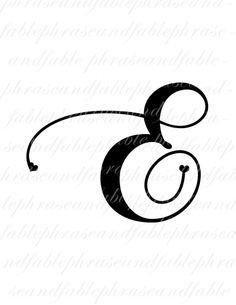 Buchstabe E Herzen 276 digitaler Download Alphabet