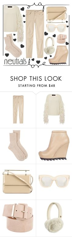 """""""Loving the Neutrals"""" by chloe-86 ❤ liked on Polyvore featuring 7 For All Mankind, Tabula Rasa, Johnstons of Elgin, Camilla Skovgaard, M2Malletier, Acne Studios, Chanel and UGG Australia"""