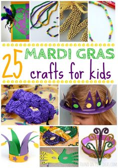 Great collection of Mardi Gras crafts for kids!