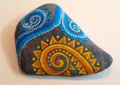 Day at the Beach / painted rock / Sandi Pike by LoveFromCapeCod