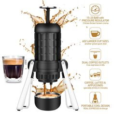 Espresso Coffee Machine, Espresso Maker, Coffee Maker, Espresso Shot, Best Espresso, Coffee Ice Cream, Cool Cafe, Great Coffee, Coffee Zone