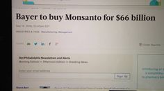Bayer to purchase #GMO giant #Monsanto for $66 billion