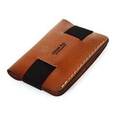 Strap wallet in brown by AtelierPall Handmade slim от LeatherPall