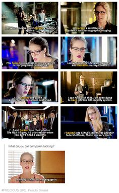 #Arrow #FelicitySmoak #Hacking
