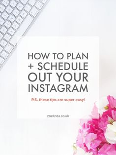 How to Plan + Schedule Out Your Instagram | Get more productive on Instagram by learning how to plan and schedule your Instagram…