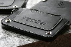STANDARD TRUCKER WALLET - SHORT (BLACK) * FREE shipping within UK (international orders are shipped with tracking). Dimensions when closed: 9cm (3.54) X 13cm (5.12) This is the smallest and most popular of our Standard Trucker wallets. Its a no-frills style and design, without