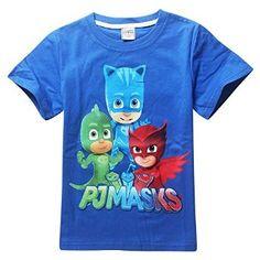 Amazon.com: Owone Box Boys Girls Kids PJ Masks Cotton Short Sleeve T-shirt: Clothing