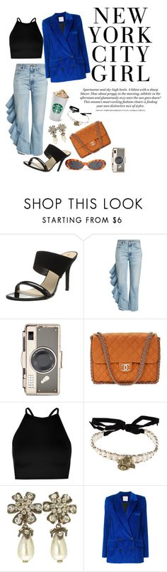 Downtown by draya-spooner on Polyvore featuring Boohoo, Maison Rabih Kayrouz, Citizens of Humanity, Trina Turk, Chanel, Kate Spade and Forever 21